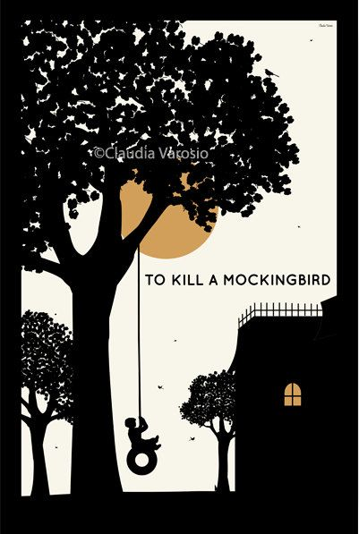 To Kill a Mockingbird (1962) ~ Minimal Movie Poster by Claudia Varosio #amusementphile