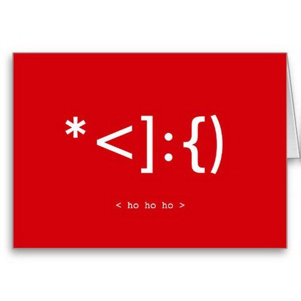 geek santa emoticon xmas card 7 http://hative.com/homemade-christmas-cards/