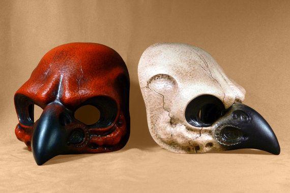 Una maschera di teschio di uccello