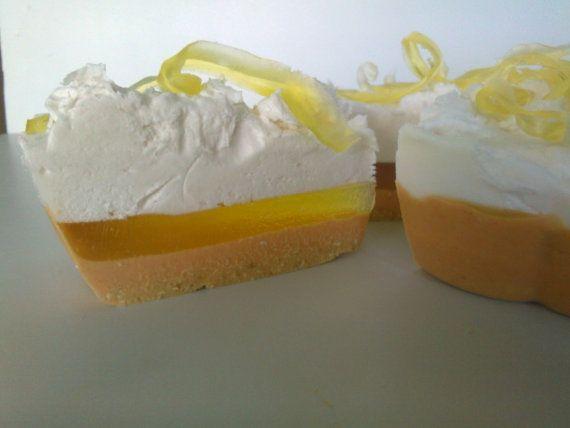 Lemon Pie Soap  Soap Cake  Lemon Maringue Soap Melt by 111elies