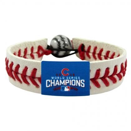 2016 World Series Chicago Cubs Classic Baseball Bracelet. Made from the authentic elements of the ball used in play. Adjustable clasp. Made from genuine leather.