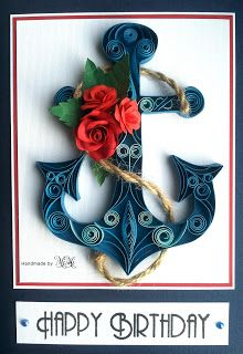 Quilling anchor