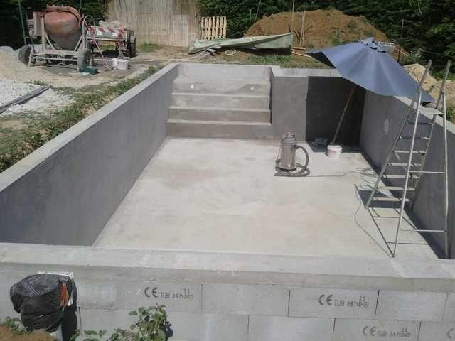 enduit piscine Piscine Pinterest Construction - Piscine A Construire Soi Meme