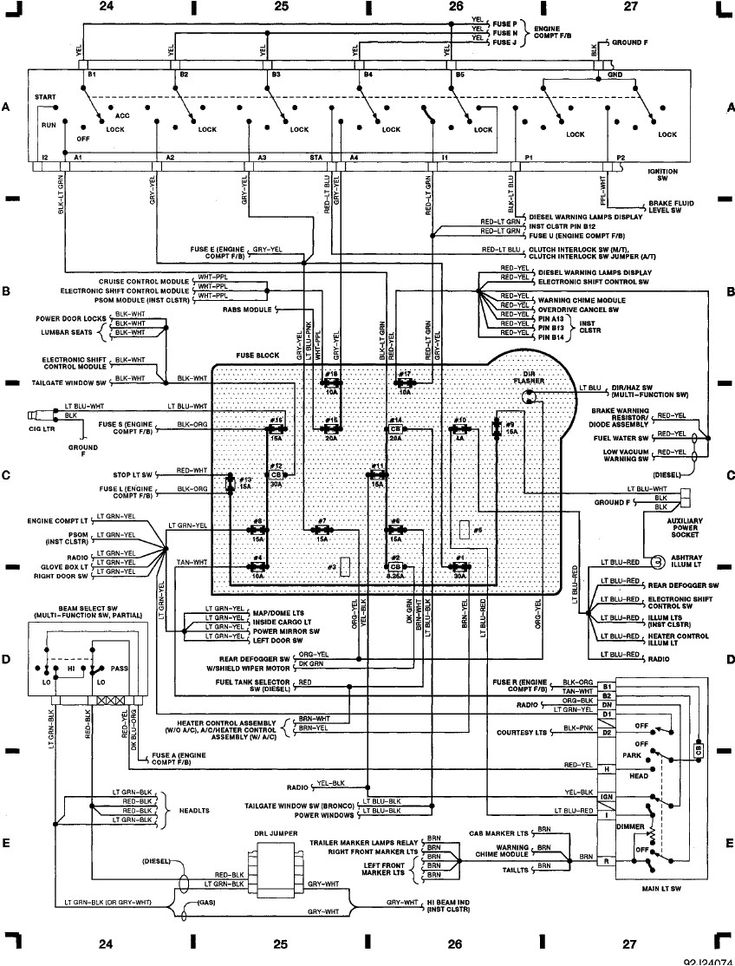 1991 E350 Wiring Diagrams Head Lights