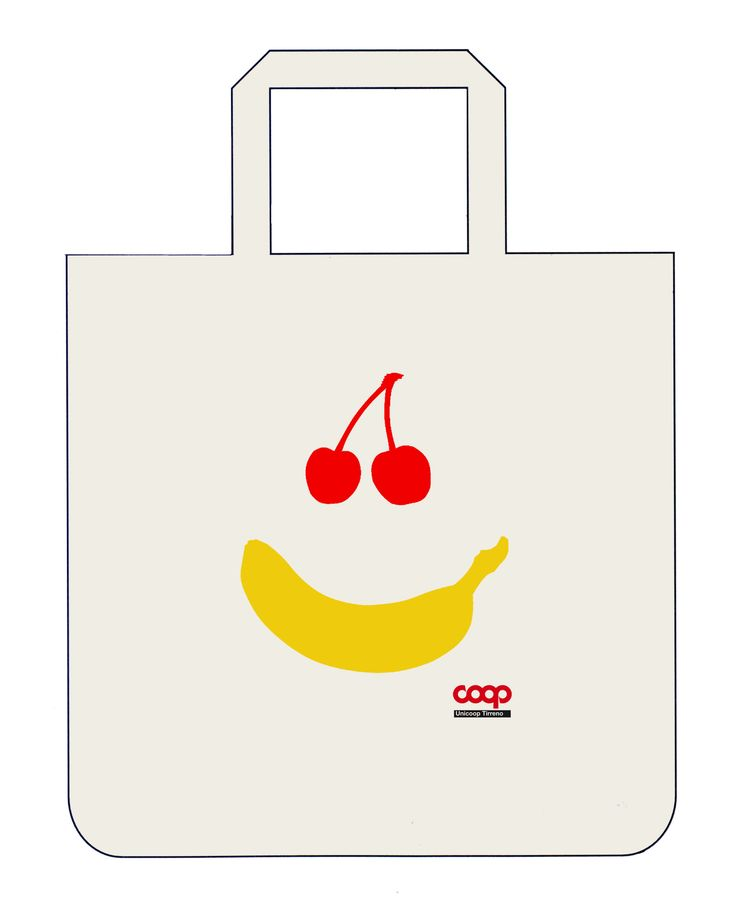 Grafica per una shopping bag COOP. Francesco Caneschi, 2010