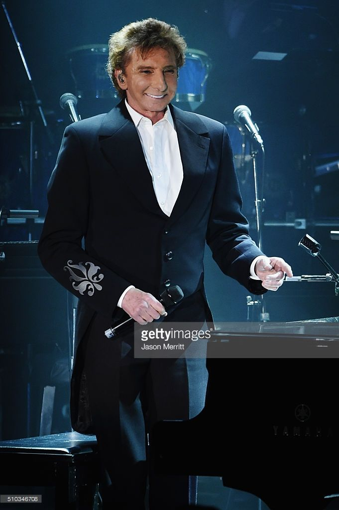 Singer Barry Manilow performs onstage during the 2016 Pre-GRAMMY Gala and Salute to Industry Icons honoring Irving Azoff at The Beverly Hilton Hotel on February 14, 2016 in Beverly Hills, California.