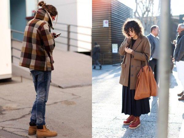 work boots for women via The Sartorialist