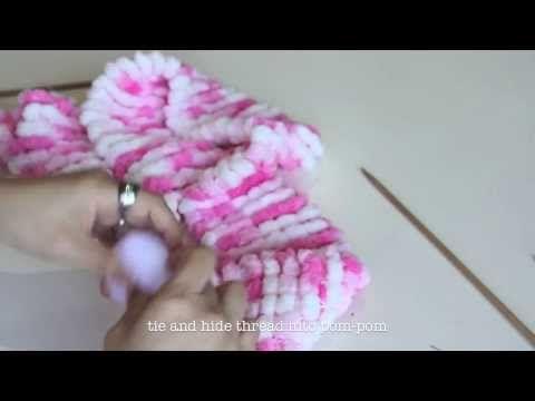 Cachecol em tricô passo a passo para iniciantes - YouTube