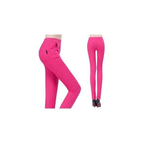 Plain Leggings (880 RSD) ❤ liked on Polyvore featuring pants, leggings, women, pink trousers, woven pants, pink pants, legging pants and pink leggings