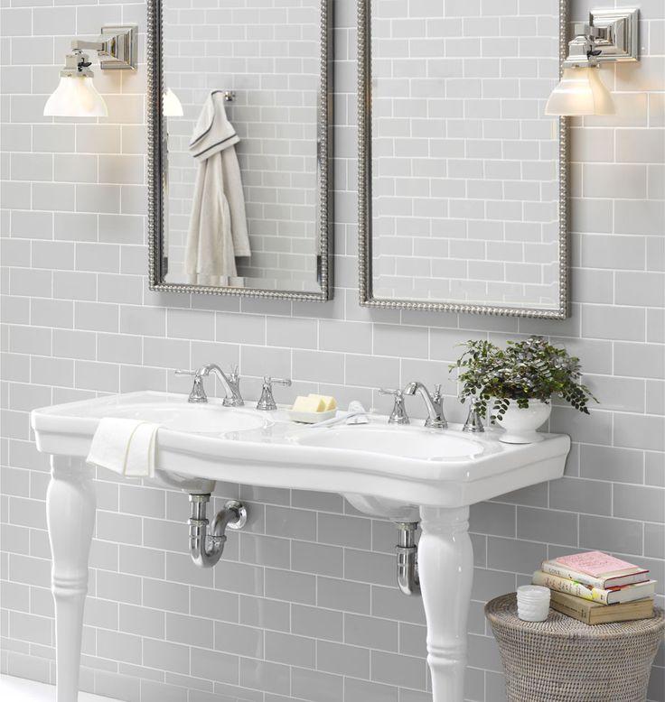 Victorian Pedestal Double Sink Console