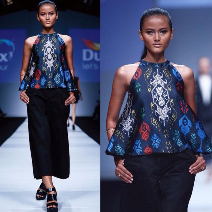 As seen on the runway - signature print of our S/S 2015 now available online.