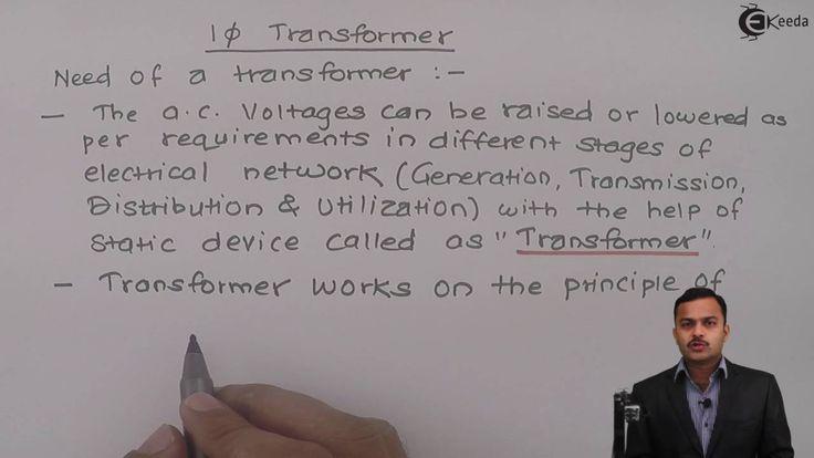 Learn Single Phase Transformer Online | Need of transformer | Ekeeda.com