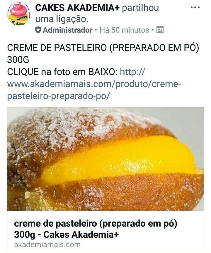 CREME DE PASTELEIRO (PREPARADO EM PÓ) 300G CLIQUE na foto em BAIXO: http://www.akademiamais.com/produto/creme-pasteleiro-preparado-po/