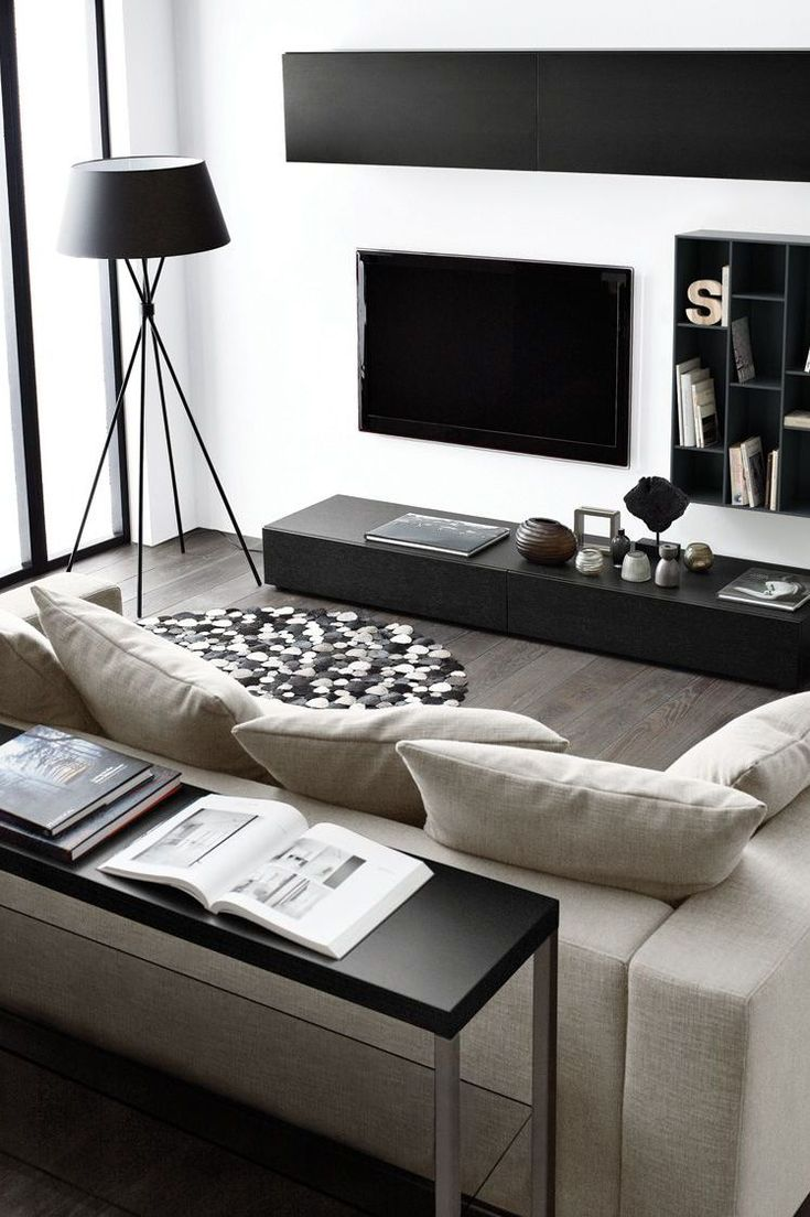 30 Best Meuble T L Images On Pinterest Entertainment Centres  # Salon Et Tele Plat