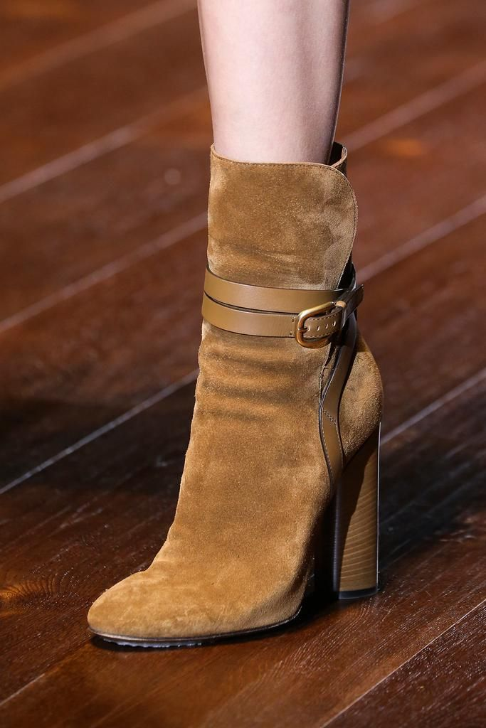 Gucci ~ Suede Ankle Boots, Tawny,Spring 2015