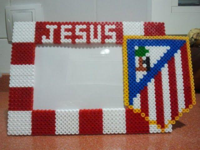 marco de fotos 10X15 personalizado, tema Atletico de Madrid