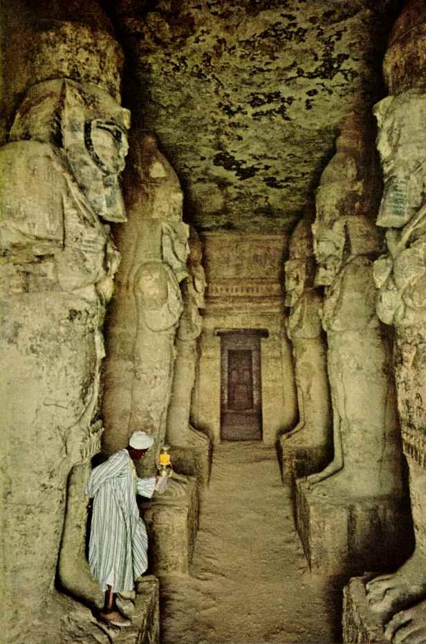 Inside Abu Simbel temple.