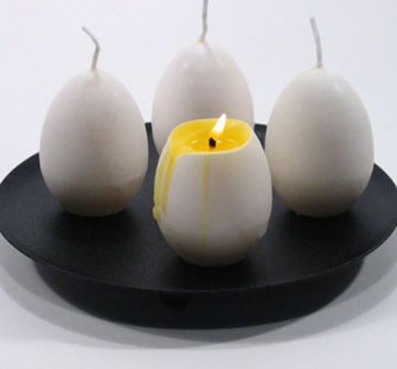 An egg candle!