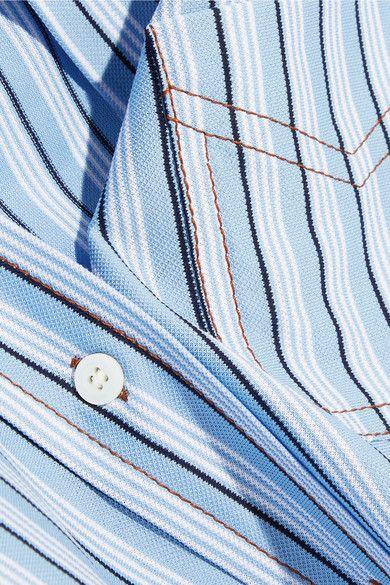 Prada - Striped Cotton Shirt - Blue - IT42