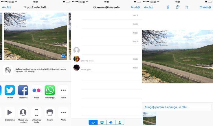 Cum trimit poze, clipuri video sau link-uri prin WhatsApp Messenger cu share sheets ? | iDevice.ro