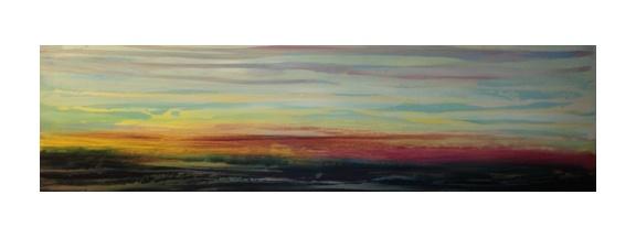 """Acrylic on Wood Panel    72"""" x 24""""    2012"""