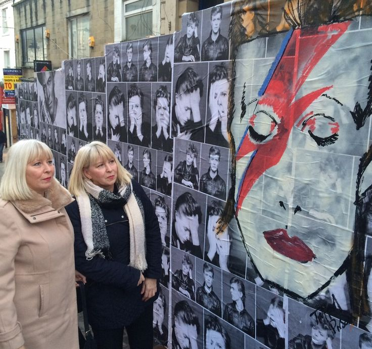 David Bowie mural takes pride of place in Bradford city centre (From Bradford Telegraph and Argus)