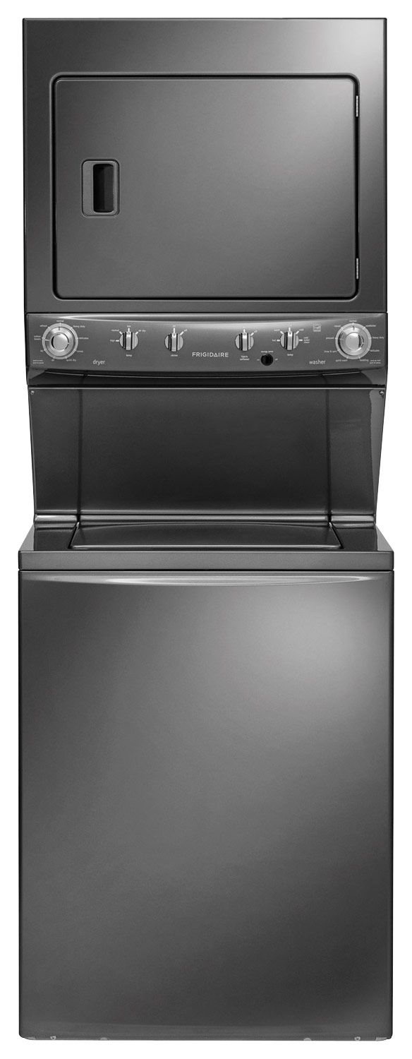 Frigidaire - 3.8 Cu. Ft. 9-Cycle Washer and 5.5 Cu. Ft. 9-Cycle Dryer Gas Laundry Center - Classic Slate - Larger Front