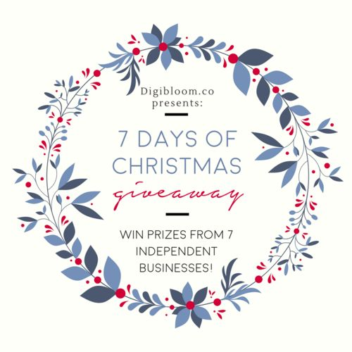 7 days of Christmas giveaway with prizes from small independent businesses! Click through and enter using the Gleam widget. Rolling giveaway - 1 new prize every day for 7 days! All giveaways end by December 14th.