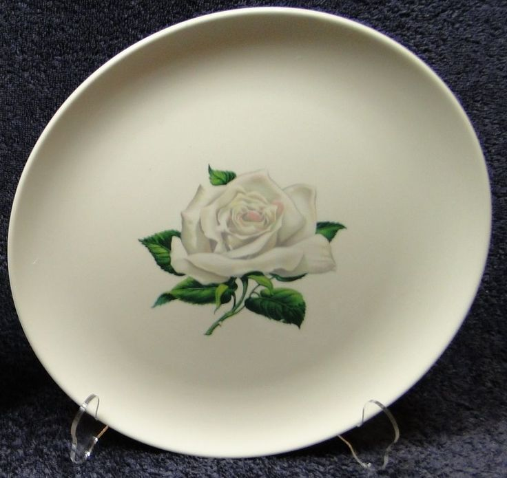 "Taylor Smith Taylor Versatile White Rose Dinner Plate 10 1/4"" Multi Avail - WOW! in Pottery & Glass, Pottery & China, China & Dinnerware 