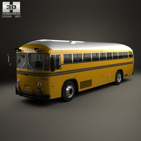3D model of Crown Supercoach Bus 1977 based on a Real object, created according to the Original dimensions. Available in various 3D formats. Download.