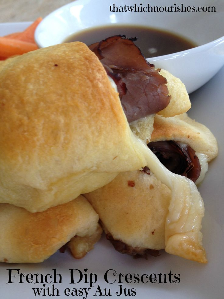 Super easy little roast beef sandwiches made with crescent rolls in just…