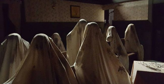 creepy sheet people