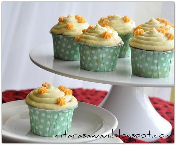 Carrot Pineapple Cupcake | Resipi Citarasawan