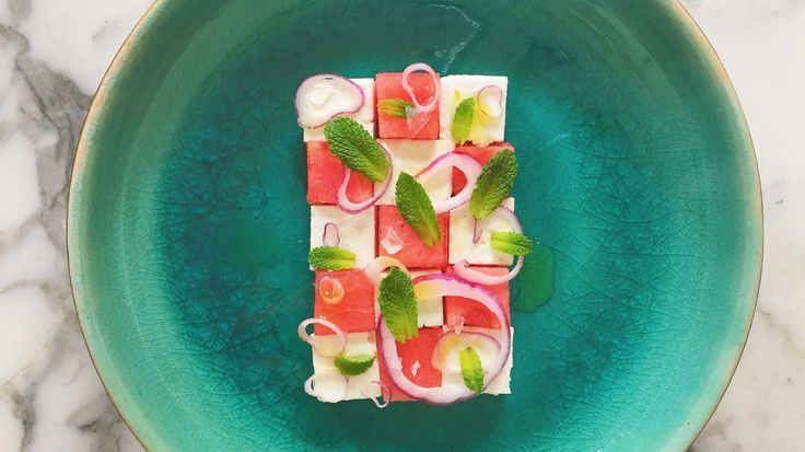 Feta Met Watermeloen, Rode Ui En Munt • Would Be Chef Door Sven Ornelis