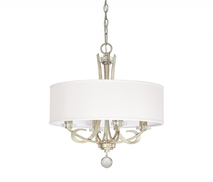 Four Light Winter Gold Drum Shade Chandelier : TRVZ | The Light Brothers