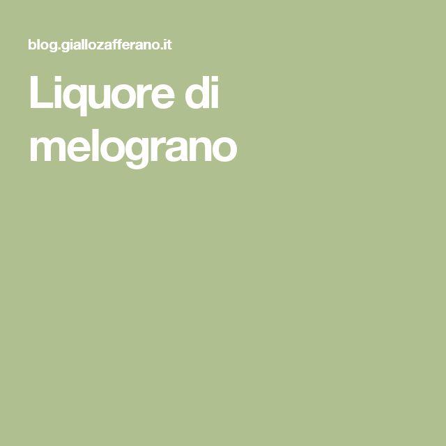 Liquore di melograno
