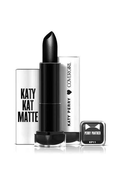 """This month, Katy Perry will be launching a slew of lipsticks with CoverGirl, which the pop star helped formulate and design. I love the creamy, buttery texture of the demi-matte lipsticks and the shade range is great for anyone looking to experiment with color. My favorite? Perry Panther, a deep, black shade that she wore to Met Gala this week."" — Mi-Anne ChanCoverGirl Katy Kat Matte Lipstick in Perry Panther, $6.94, available for pre-order at Walmart. #refinery29…"