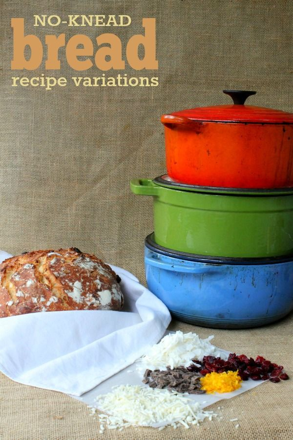 No-Knead Bread Recipe Variations: Simple ideas to jazz up your next loaf of the famous no-knead bread!