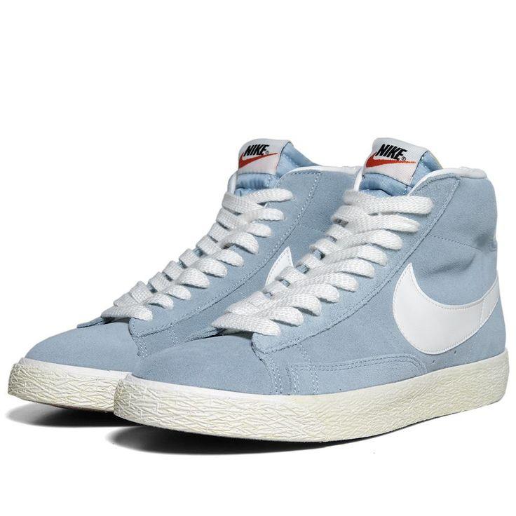 limité pas cher 2014 Nike Blazer Vintage Mi De Suède Bleu Porté meilleur choix JYuEHR