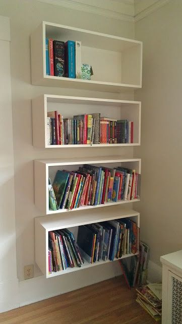 25 best ideas about floating bookshelves on pinterest Wall mounted bookcase shelves