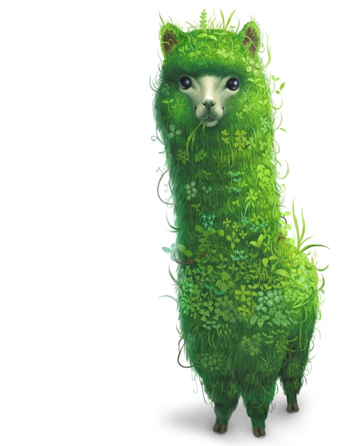 Render - Lama | Renders Dez  OH MY GOD IT'S A LLAMA....wait. Is it Dil's LLAMA HEDGE???