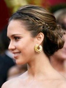 Recogido con trenza á lá Jessica Alba! #eventos / Braided bun like Jessica Alba #hairstyles