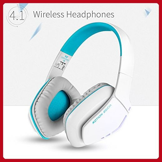 KOTIONEACHB3506V4.1BluetoothHeadphonesforPS4, WirelessHeadsetwithMicrophone,NoiseIsolationFoldableGamingHeadsetwithmic, forPlayStation4PCMacSmartphonesComputersLaptops (White) - Audio gadgets (*Amazon Partner-Link)