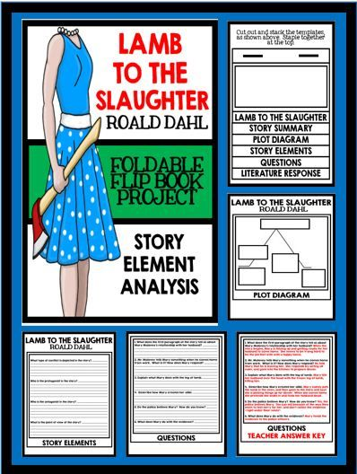 the roald dahls murder fiction lamb to the slaughter Lamb to the slaughter by roald dahl the room was warm, the curtains were closed, the two table lamps were lit on the cupboard behind her.