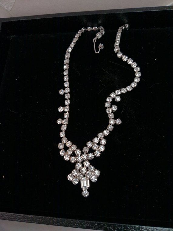 Check out this item in my Etsy shop https://www.etsy.com/listing/251410315/gale-sparkling-rhinestone-necklace