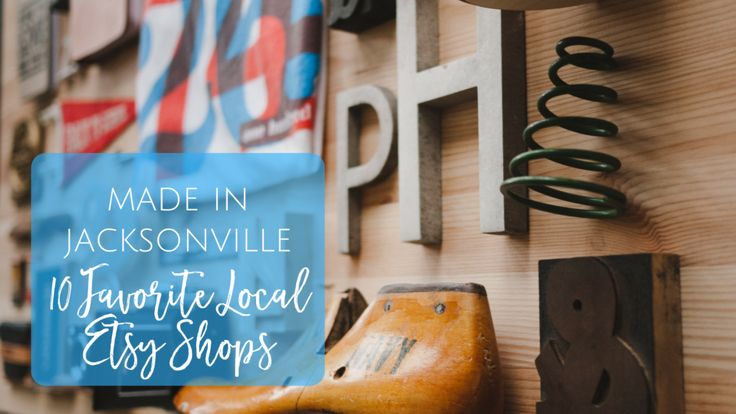 10 Local Etsy Shops in Jacksonville Beach Florida