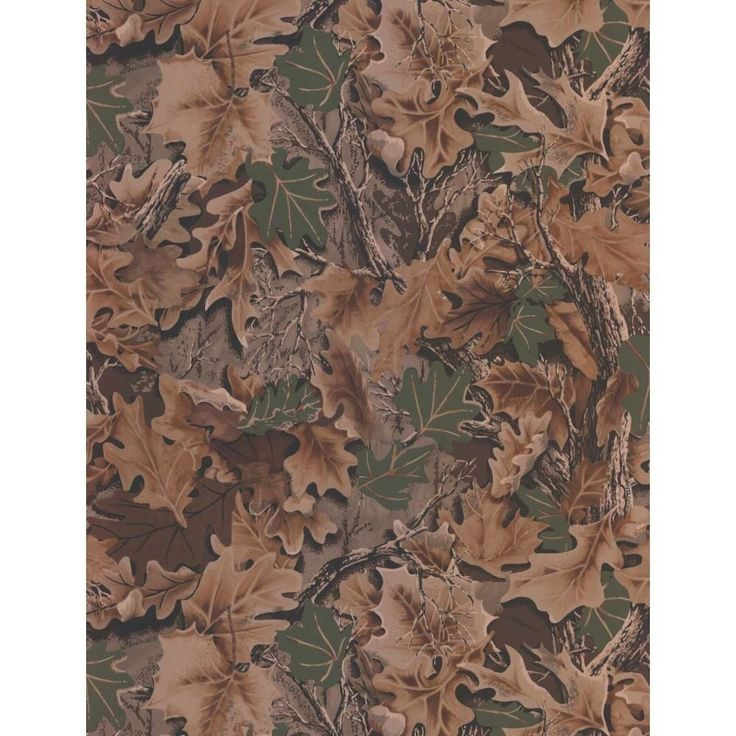 Real Tree Advantage CAMOUFLAGE Leaves Forest Camo Wallpaper Double Roll WD4140 #YorkWallcoverings