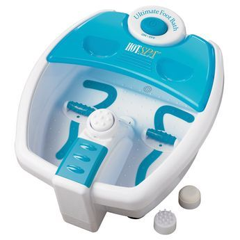 Hot Spa Heated Foot Spa: By Helen of Troy:  Sally Beauty Supply.com. Item # SBS-510800. Online Price $109.00.  The Hot Spa Heated Foot Spa is a professional foot bath that heats water fast and keeps it hot, features vibration massage plus pedi center with 3 attachments.