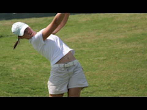 Karine Icher pristine 1 STEP golf swing