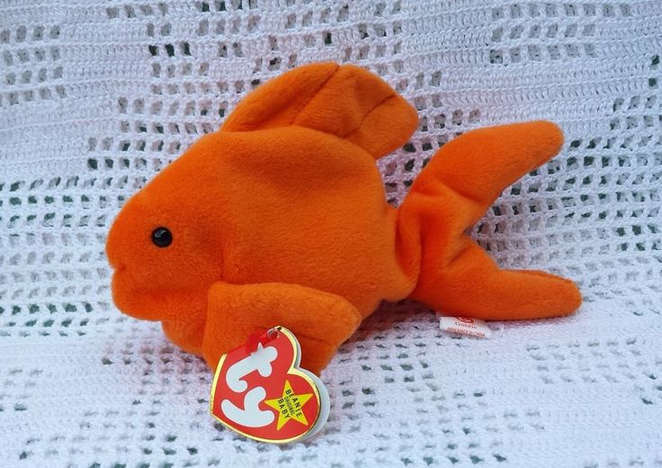 Ty Original Beanie Babies Retired Goldie the Fish Goldfish 11/14/1994 MWMT 3+ #Ty